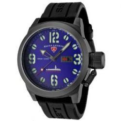 Swiss Legend Herren-Armbanduhr Submersible Analog Silikon Schwarz SL-10543-GM-03