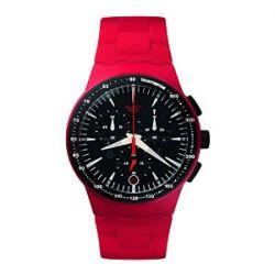Swatch Unisex-Armbanduhr Chrono Fire Core Chronograph Quarz Plastik SUSR402