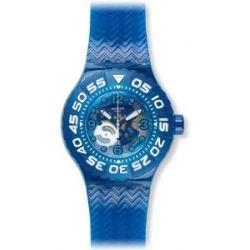 Swatch Herren-Armbanduhr XL Scuba Libre La Nave Va Analog Quarz Plastik SUUS100