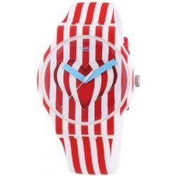 Swatch Damen-Armbanduhr Sweet Valentine Analog Quarz Silikon SUOZ168