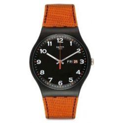 Swatch Unisex-Armbanduhr Classic Analog Quarz Silikon SUOB709