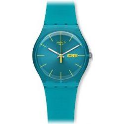Swatch Damen-Armbanduhr Türkis Rebell SUOL700
