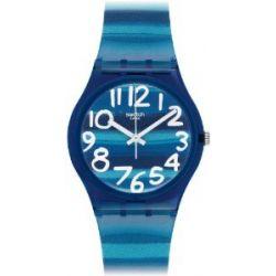 Swatch Damen-Armbanduhr XS Gent Linajola Analog Quarz Plastik GN237