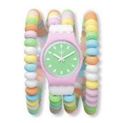 Swatch Damen-Armbanduhr XS Caramellisima Analog Quarz Plastik LP135B