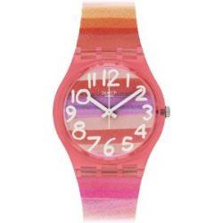Swatch Damen-Armbanduhr XS Gent Astilbe Analog Quarz Plastik GP140