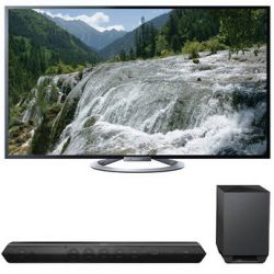 "Sony Sony KDL-55W802A 55"" TV with HTST7 Sound Bar Kit B&H"