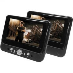 "Impecca DVP-DS720 7"" Dual Screen Portable DVD DVPDS720 B&H"