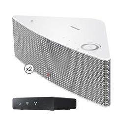 Samsung SHAPE M5 Wireless Audio Speakers Kit (White) B&H Photo