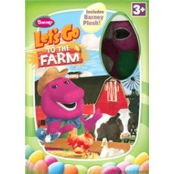 Barney: Let's Go To The Farm - With Easter Plush Toy (DVD 2004)