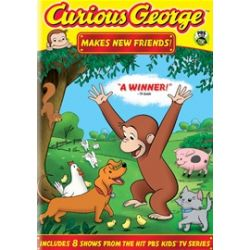 Curious George: Makes New Friends! (DVD 2010)
