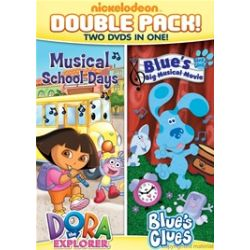 Dora & Blue's Clues Double Feature: Dora Musical School Days & Blue's Big Musical Movie (DVD)