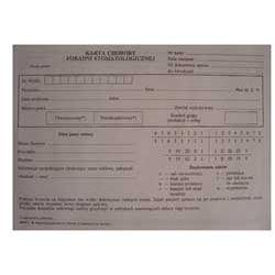 Druki - karta choroby poradni stomatologicznej ST-1