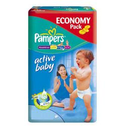 Pieluchy Pampers Active Baby 3-6kg JUMBO PACK
