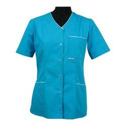 Bluza medyczna 024 + z lamówką lub wypustką - damska