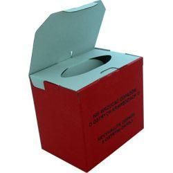 Pojemnik na odpady medyczne, wykonany z tektury (składany),