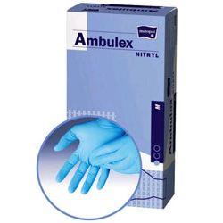 AMBULEX NITRYL - rękawice nitrylowe pudrowane niebieskie