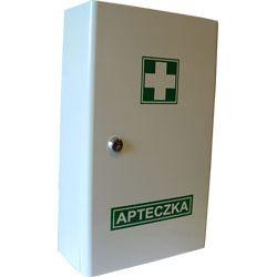 Apteczka szafkowa typ A/400 - metalowa, zamykana na kluczyk.