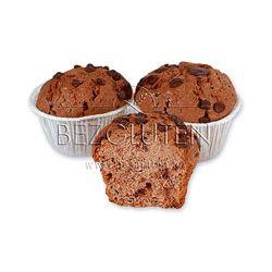 Muffinsy kakaowe z kawałkami czekolady bezglutenowe