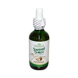 Wisdom Natural, SweetLeaf Liquid Stevia, Sweet Drops Sweetener, Coconut, 2 fl oz (60 ml)