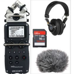 Zoom H5 Handy Recorder, Headphones, and Accessories Kit B&H