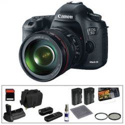 Canon EOS 5D Mark III DSLR Camera Deluxe Accessory Kit B&H Photo