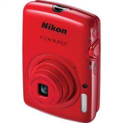 Nikon  COOLPIX S01 Digital Camera (Red) 26348 B&H Photo Video