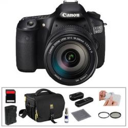 Canon EOS 60D Digital SLR Camera with 18-200mm Lens & Basic
