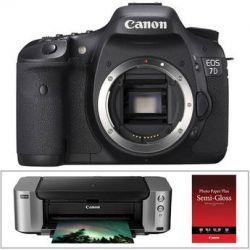 Canon EOS 7D DSLR Camera Kit with PIXMA PRO-100 Inkjet Printer