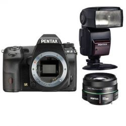 Pentax K-3 DSLR Camera with 50mm Lens and Flash Kit B&H Photo