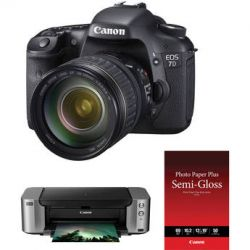 Canon EOS 7D Digital Camera Kit with 28-135mm Lens, PIXMA B&H