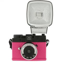 Lomography Diana Mini 35mm Camera with Flash (En Rose) 596 B&H