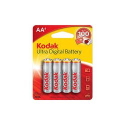 Kodak AA 1.5v Ultra Digital Oxy-Alkaline Battery (4 Pack)
