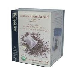 Two Leaves and a Bud, Organic Darjeeling, Classic Black Tea From India, 15 Sachets, 1.33 oz (37.5 g)