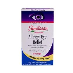 Similasan, Allergy Eye Relief Eye Drops, 20 Sterile Single-Use Droppers