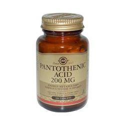 Solgar, Pantothenic Acid, 200 mg, 100 Tablets