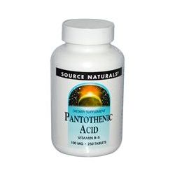 Source Naturals, Pantothenic Acid, 100 mg, 250 Tablets