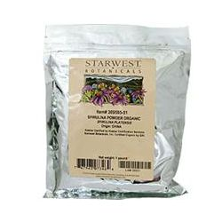 Starwest Botanicals, Spirulina Powder, Organic, 1 lb