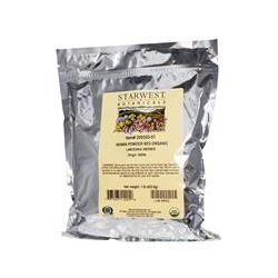 Starwest Botanicals, Organic Henna Powder, Red, 1 lb (453.6 g)