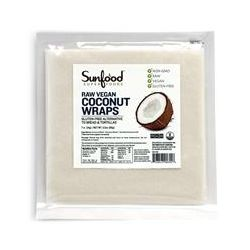 Sunfood, Superfoods, Raw Vegan Coconut Wraps, 7 ct (14 g) Each