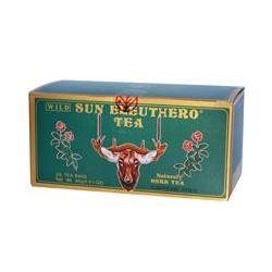 Sun Chlorella, Wild Sun Eleuthero Tea, Caffeine Free, 25 Tea Bags, 1.41 oz (40 g)