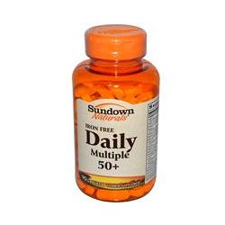 Rexall Sundown Naturals, Daily Multiple 50+, Iron Free, 90 Caplets