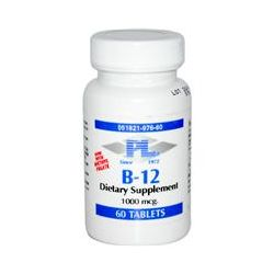 Progressive Laboratories, B-12, 1000 mcg, 60 Tablets