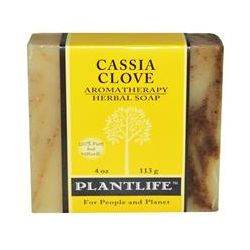 Plantlife, Aromatherapy Herbal Soap Bar, Cassia Clove, 4 oz  (113 g)