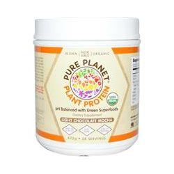 Pure Planet, Organic, Plant Protein, Light Chocolate Mocha, 672 g