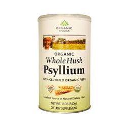 Organic India, Organic Psyllium, Whole Husk, 12 oz (340 g)