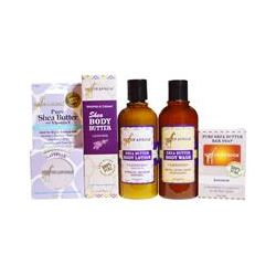 Out of Africa, Shea Butter Body Kit, Lavender, 4 Pieces with 1 Free Gift