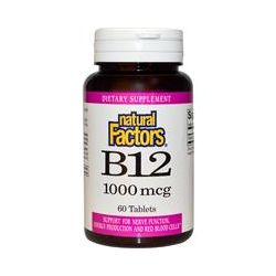 Natural Factors, B12, 1000 mcg, 60 Tablets