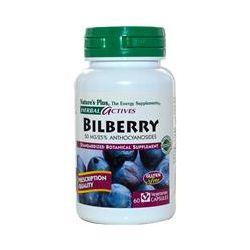 Nature's Plus, Herbal Actives, Bilberry, 50 mg, 60 Veggie Caps