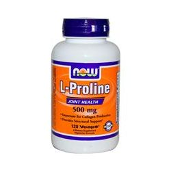Now Foods, L-Proline, 500 mg, 120 Vcaps