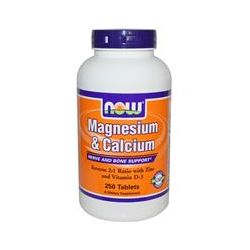 Now Foods, Magnesium & Calcium, 250 Tablets